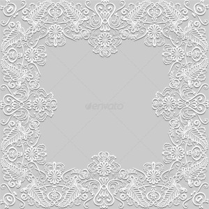 gray background with pattern paper frame _pv