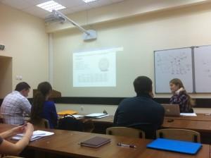 Рисунок 2 – Мультимедийное оборудование экономического факультета в учебном процессе магистерской программы E&M (ауд. 2026л)